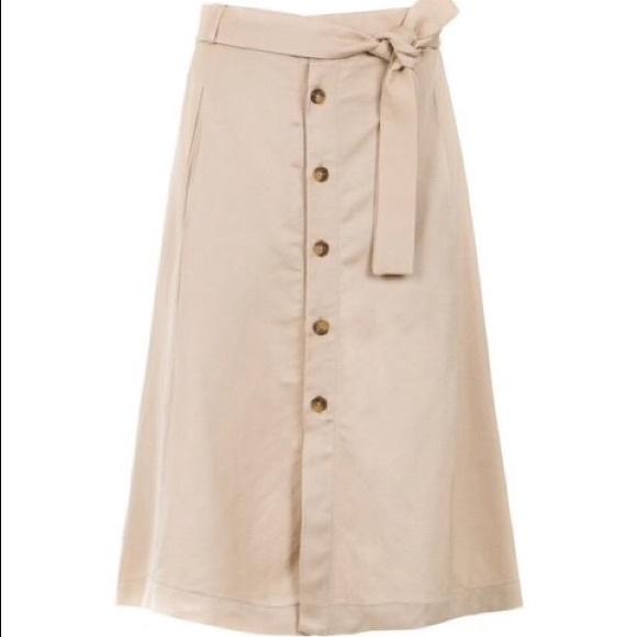 3518d7cde8c4 Skirts   New Korean Essential Button Long Skirt In Beige   Poshmark